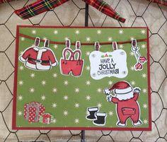 Stampin up Santa's suit