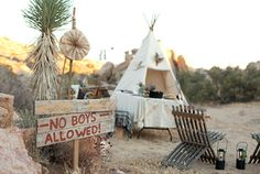 """campout bachelorette....but maybe with a real tent!  (my sign would say """"no teepees allowed"""")"""