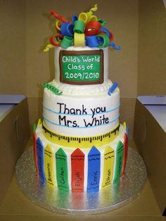 For My Daughters Preschool GraduationVanilla Cakes With Chocolate