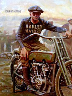 c David Uhl Bike Poster, Motorcycle Posters, Motorcycle Art, Bike Art, Racing Motorcycles, Vintage Motorcycles, Harley Davidson Motorcycles, David Mann Art, Motos Harley