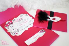 This is the type of invitatiion I am going for. Elegant and grown up. But still fun and girly.