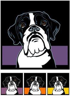 Boxer-No-2-Pop-Art-Bild-Foto-retro-Bilder-Hund-3-Poster-Portrait-Foto-Kunstdruck - dogs design