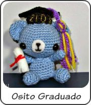 Amigurumi osito de graduación