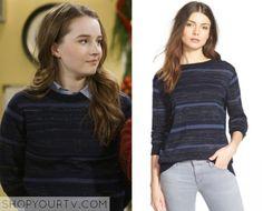 Last Man Standing: Season 5 Episode 11 Eve's Blue Striped Sweater