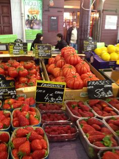 Antibes, France produce market