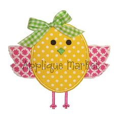 Machine Embroidery Design Applique Sweet Chick by tmmdesigns