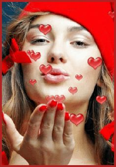 Gif ♥ Blowing kisses ♡♥♡♥♡