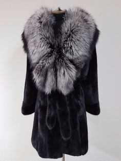REAL NEW MINK FUR COAT BLACK FULL SKINS SAGA FUR MEXA PELZMANTEL FOX SABLE in Clothing, Shoes & Accessories, Women's Clothing, Coats & Jackets | eBay