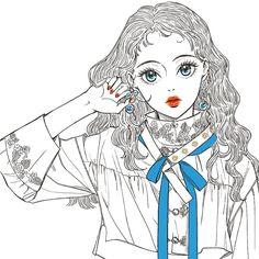 #낙서#그림#イラスト#drawing#sketch#illustration#일러스트 Manga Drawing, Drawing Sketches, Art Drawings, Famous Pictures, Fantasy Drawings, Postcard Art, Sketch Painting, Foto Pose, Japanese Art