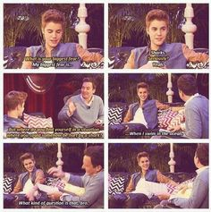 Justin Bieber and  Jimmy Fallon, Hahaha so funny.