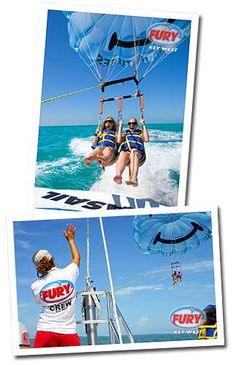 Fury Water Adventures: Parasailing ($36), Snorkeling, Sunset cruise, and glass-bottom cruise.