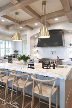 Luxury kitchen design, luxury kitchens, kitchen ceiling design, home decor European Kitchens, Luxury Kitchens, Cool Kitchens, Modern Kitchens, Kitchen Modern, Dream Kitchens, Beautiful Kitchens, Home Decor Kitchen, Rustic Kitchen