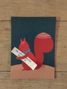 verjaardagskaart eekhoorn