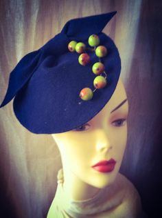 Millinery   Hand Made   Felt Cocktail Hat   by katherinecareyhats, $225.00