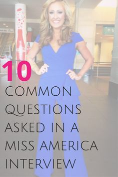 The Miss America interview is a panel-style interview with 5-7 judges that lasts for 10 minutes. It is worth 25% of the overall score.  If you are planning to compete in an MAO local and have dreams of becoming Miss America, there are a few questions you will probably get in that interview.