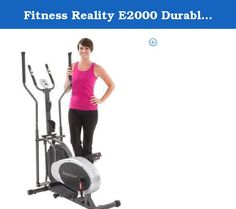 Fitness Reality E2000 Durable Fan Elliptical Trainer with Heart Rate System. 'FITNESS REALITY' Real People. Real Results. The Fitness Reality E2000 Elliptical Trainer is ideal for apartments, condos or smaller areas, where space saving and a compact exercise machine footprint is a priority. The E2000 will provide an upper body workout with the dual action arms and a lower body workout using the natural elliptical motion and stride of walking. The smooth elliptical stride can help reduce…