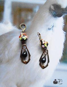 Boucles d'oreilles pendantes inspiration néo classique Dormeuses Pendentifs…