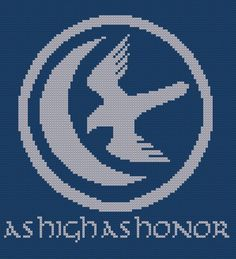 Game of Thrones Arryn house sigil counted cross stitch PDF pattern. £2.30, via Etsy.