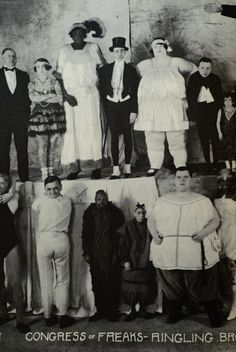 """""""Congress of Freaks"""" Ringling Brothers sideshow/freakshow attraction- vintage photo. I spy pepper on the bottom Old Circus, Night Circus, Vintage Circus, Portraits Victoriens, Art Du Cirque, Sideshow Freaks, Human Oddities, Bizarre, Arte Horror"""