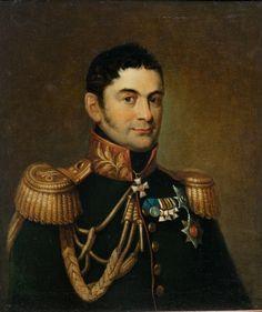 Портрет П. М. Волконского . Неизвестный художник. 1820-е гг.