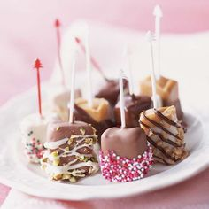 Candy-Box Caramels~ Dress up caramel squares by dipping them in sprinkles, crushed nuts, and bits of candy.