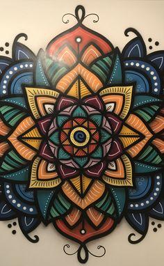 Eeee Wall Art Designs, Wall Design, Design Art, Graffiti Wall Art, Mural Art, Murals, Mandala Drawing, Art Lotus, Wall Decor