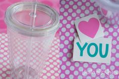 Tutorial :: How to decorate tumbler cups with vinyl and the Silhouette.
