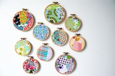 crazy patchwork mash ups in hoops