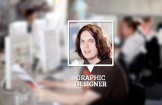 Graphic Designer at office