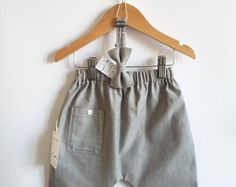 Pantaloni bambino, papillon bambino, pantaloni, cerimonia, battesimo, taglia 12/18 mesi