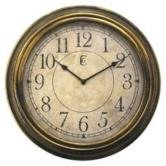Antique Wall Clock - Bronze : Target.com