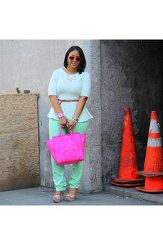 Hot-pink-celine-bag-aquamarine-high-waist-bdg-via-urban-outfitters-jeans