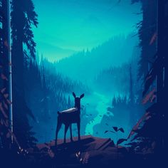 Random forest scenes    animations by Mikael Gustafsson     Really great art and animation, would love to see this turned into a game.  You can see more on the artist's Instagram or Dribble.