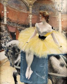 Equestrienne au cirque Fernando -1890 - Francois Flameng (french painter)
