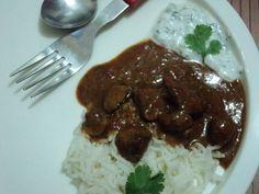 hungarian goulash and tzatziki... :P