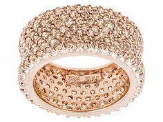 894cd2d39 Bella Luce (R) 6.92ctw Champagne Diamond Simulant Round Eterno (Tm) Rose