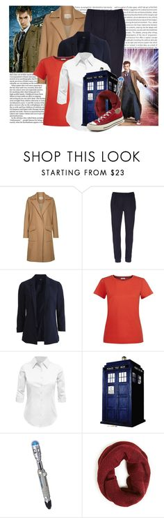 """""""Role Models: The Tenth Doctor"""" by cinna78 ❤ liked on Polyvore featuring Oris, Nanushka, Mother, Vila Milano, Hobbs, LE3NO and Converse"""