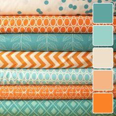 Цветовые палитры, вдохновленные текстилем