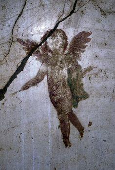 Cherub, Detail From Wall Painting, Pompeii