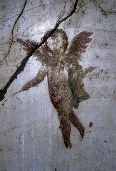 Cherub, Detail From Wall Painting, Pompeii