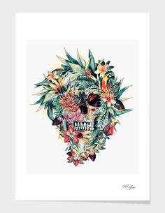 """Momento Mori V"", Limited Edition Fine Art Print by RIZA PEKER - From $39.00 - Curioos #skull #collage #digital #art #rizapeker"