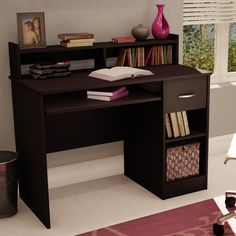 South Shore Axess Collection Teen Computer Desk with Low Hutch