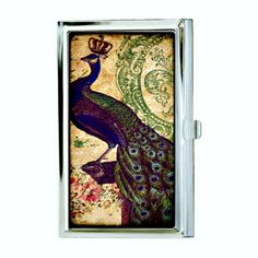 Royal Peacock Business Card Case Sublimation by hardweardesigns