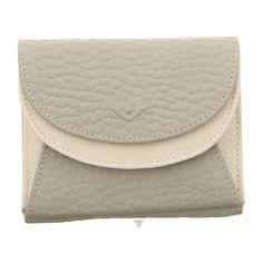 NEU: Voi Leather Design Geldbörsen Wienerschachtel - 70187 PLA/WS - platin/weiss -