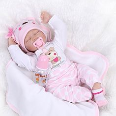 NPK Collection Sleeping Eyes Closed Real Lifelike 22 Inch Reborn Baby Girl Doll Toddler Realistic Looking Newborn Soft Silicone Vinyl Dolls Lovely Birthday Gift Xmas Present Free Magnet Parcifer >>> Read more at the image link. Newborn Baby Dolls, Cute Baby Dolls, Baby Girl Toys, Reborn Baby Girl, Cute Baby Girl, Reborn Babies, Cute Babies, Diy Doll Tent, Princesa Disney Frozen