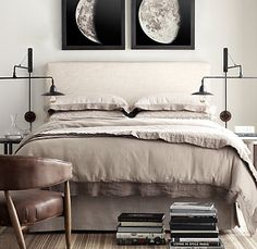 Belgian Track Slipcovered Headboard | Upholstered Beds | Restoration Hardware