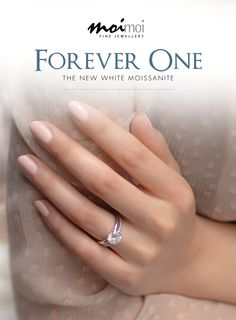 """Forever One, the new white Moissanite. """"Fiona"""" Ring, featuring Forever One $4,170 www.moimoi.com.au              #moimoifinejewellery #moissanite Forever One Moissanite, Beautiful Rings, Fine Jewelry, Engagement Rings, Nails, Pretty Rings, Enagement Rings, Finger Nails, Wedding Rings"""