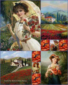 '' Art ~ Poppies '' by Reyhan Seran Dursun