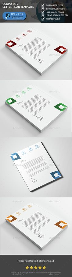 Letterhead Template 27 Coloring pages Pinterest Letterhead - corporate letterhead template