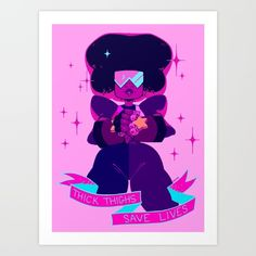 Thick+Thighs+Save+Lives+Art+Print+by+Mimia+-+$15.00